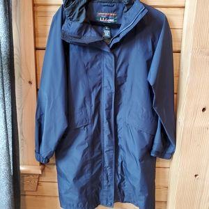 L.L. Bean Mesh Lined Long Length Raincoat